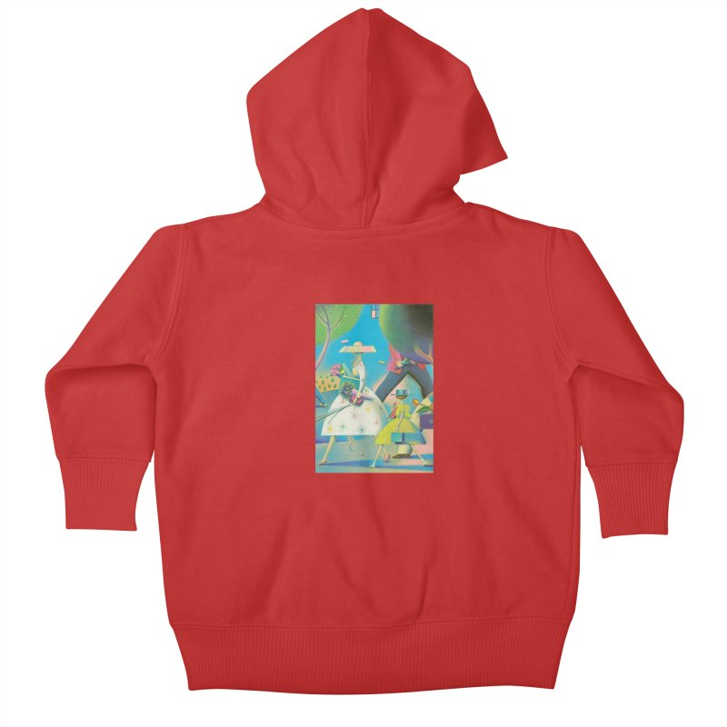 Mother And Daughter Kids Baby Zip-Up Hoody by Dave Calver's Shop