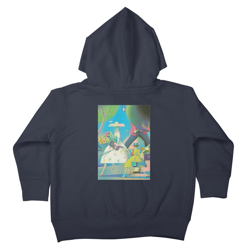 Mother And Daughter Kids Toddler Zip-Up Hoody by Dave Calver's Shop