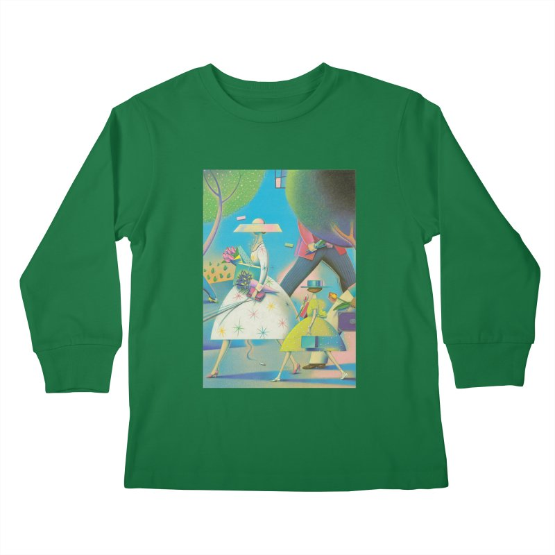 Mother And Daughter Kids Longsleeve T-Shirt by Dave Calver's Shop