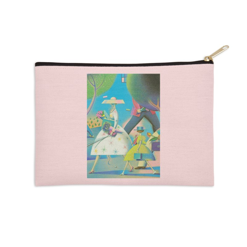 Mother And Daughter Accessories Zip Pouch by Dave Calver's Shop