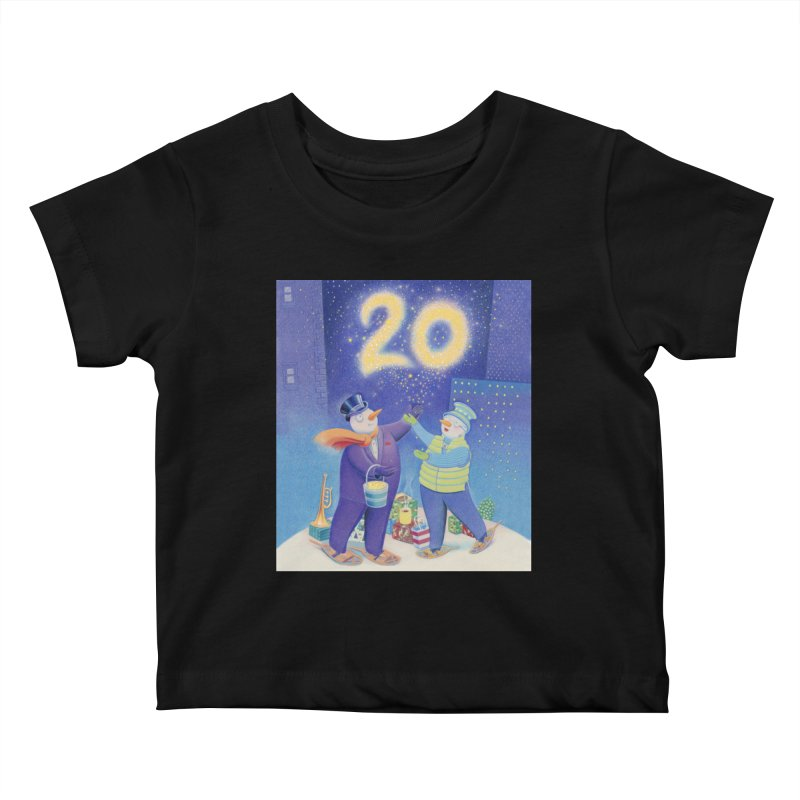 Winters Eve 20 Kids Baby T-Shirt by Dave Calver's Shop