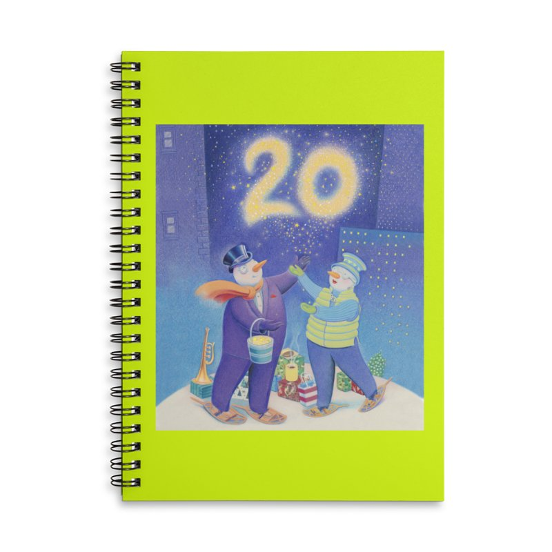 Winters Eve 20 Accessories Lined Spiral Notebook by Dave Calver's Shop