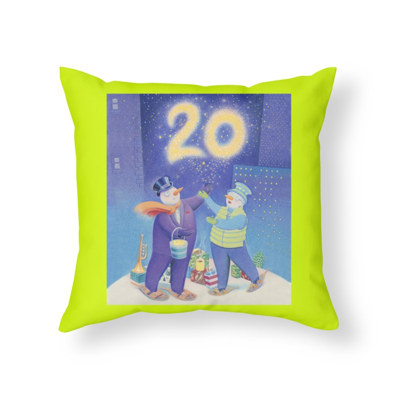 Winters Eve 20 Home Throw Pillow by Dave Calver's Shop