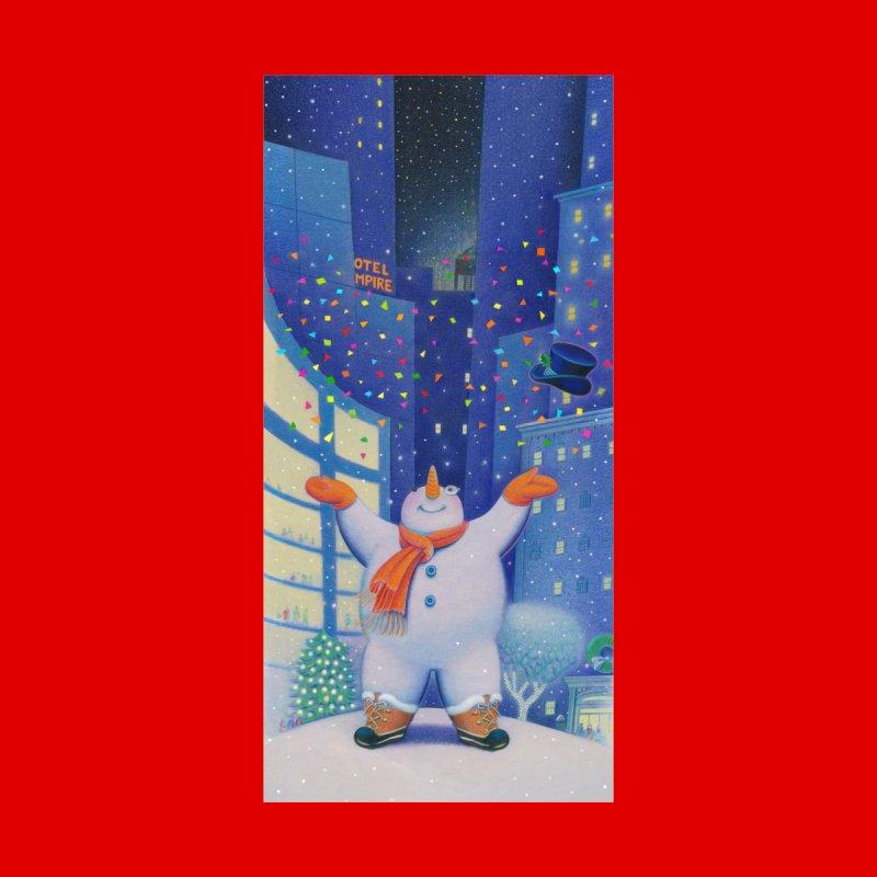 Snowman Cheer Women's Pullover Hoody by Dave Calver's Shop
