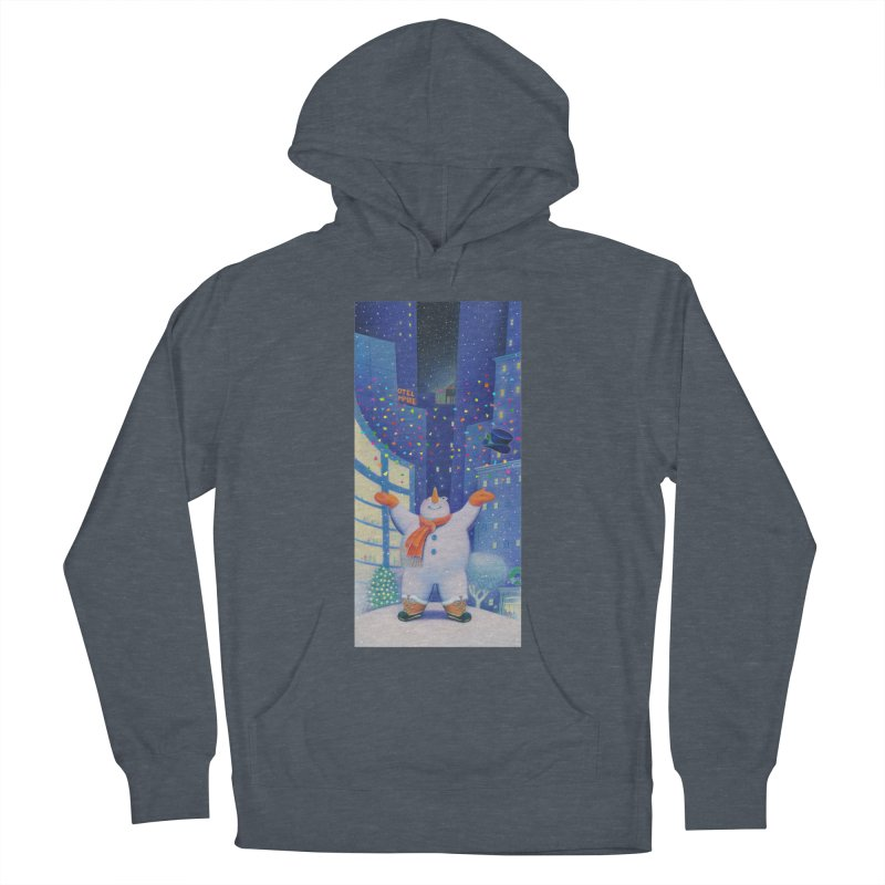 Snowman Cheer Men's French Terry Pullover Hoody by Dave Calver's Shop