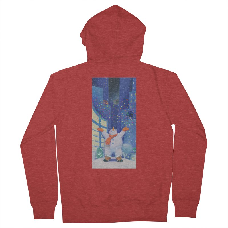 Snowman Cheer Women's French Terry Zip-Up Hoody by Dave Calver's Shop