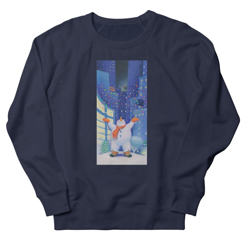 Snowman Cheer Men's French Terry Sweatshirt by Dave Calver's Shop