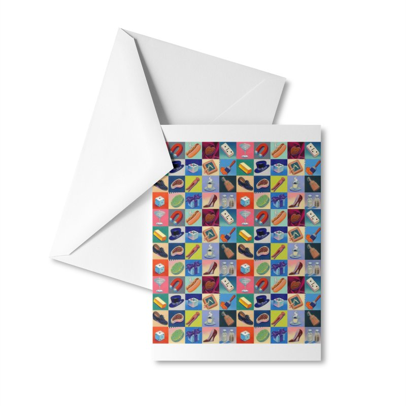 Icon Grid Accessories Greeting Card by Dave Calver's Shop