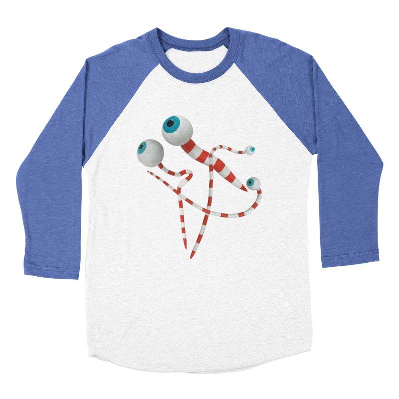 Worms Women's Baseball Triblend Longsleeve T-Shirt by Dave Calver's Shop