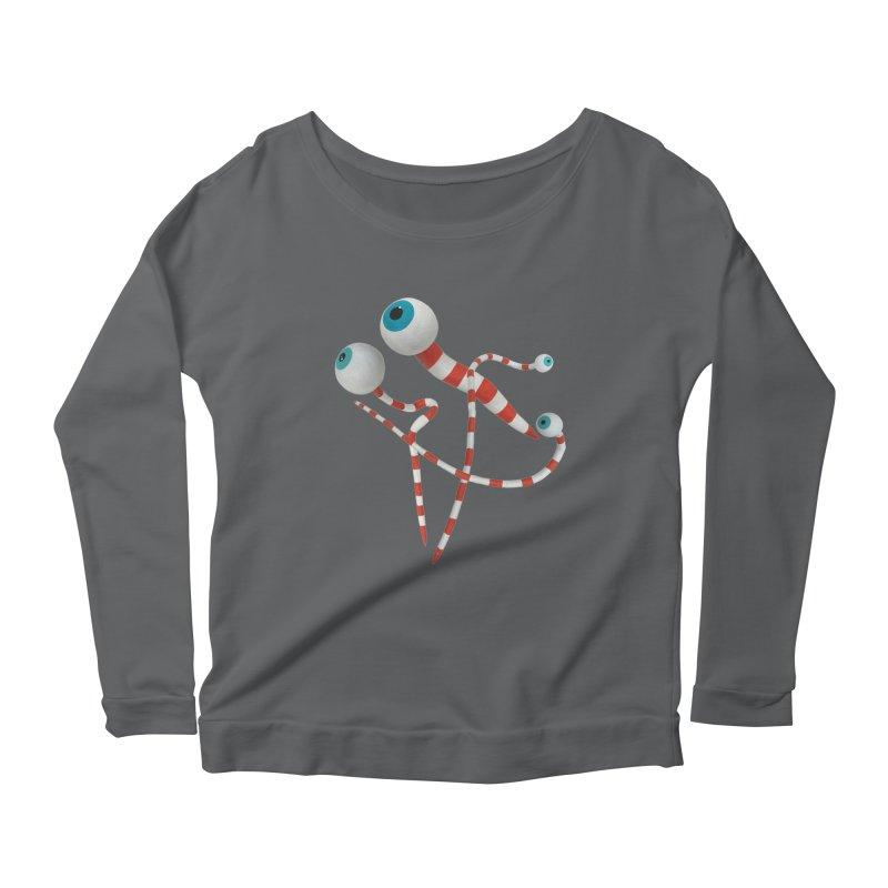 Worms Women's Scoop Neck Longsleeve T-Shirt by Dave Calver's Shop