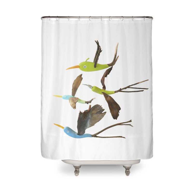 Birds From Hell Home Shower Curtain by Dave Calver's Shop