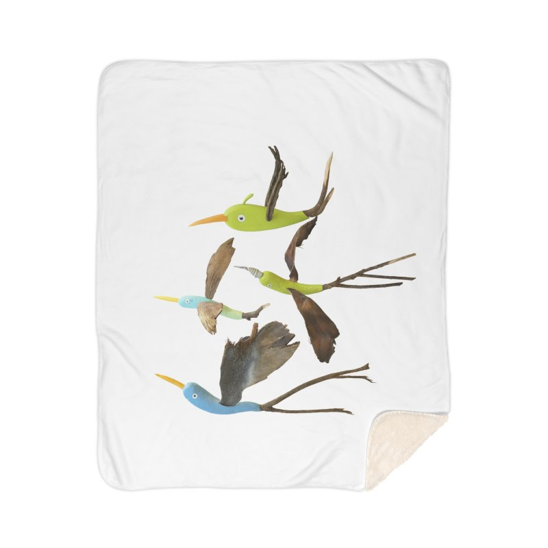 Birds From Hell Home Sherpa Blanket Blanket by Dave Calver's Shop