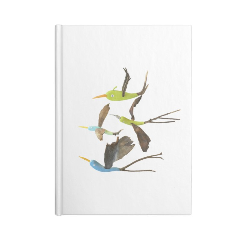 Birds From Hell Accessories Lined Journal Notebook by Dave Calver's Shop