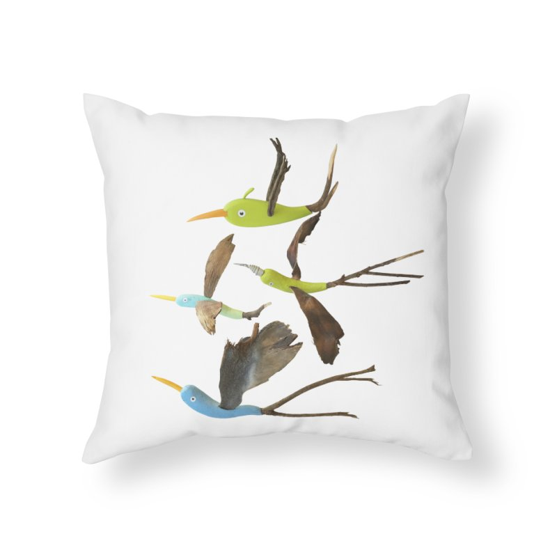 Birds From Hell Home Throw Pillow by Dave Calver's Shop