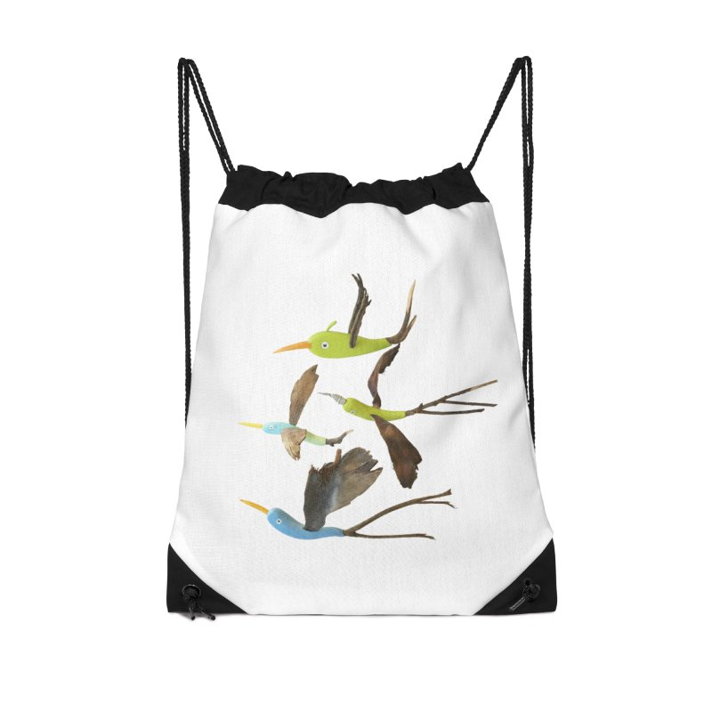 Birds From Hell Accessories Drawstring Bag Bag by Dave Calver's Shop