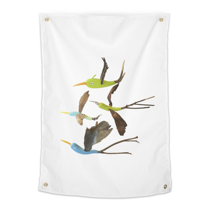 Birds From Hell Home Tapestry by Dave Calver's Shop