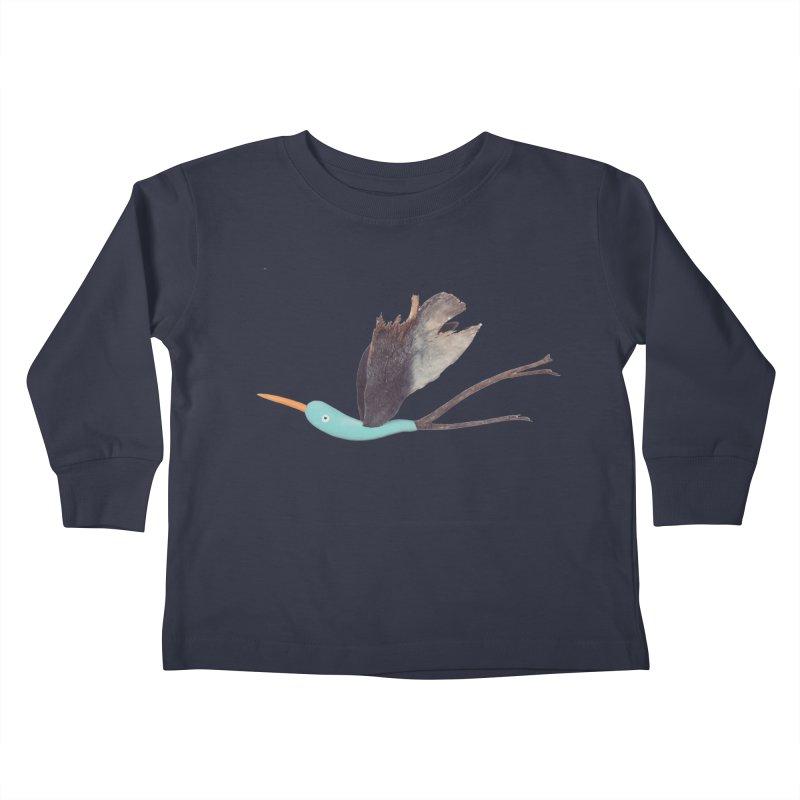 Bird 1 Kids Toddler Longsleeve T-Shirt by Dave Calver's Shop