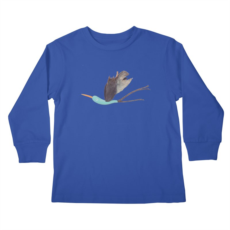 Bird 1 Kids Longsleeve T-Shirt by Dave Calver's Shop
