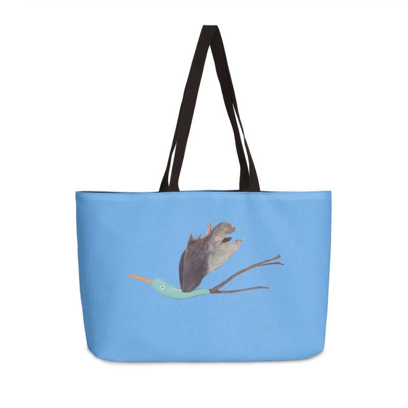 Bird 1 Accessories Weekender Bag Bag by Dave Calver's Shop