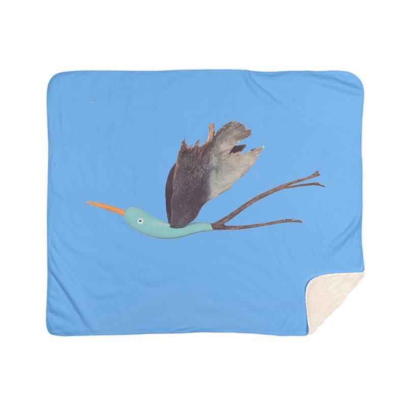 Bird 1 Home Sherpa Blanket Blanket by Dave Calver's Shop