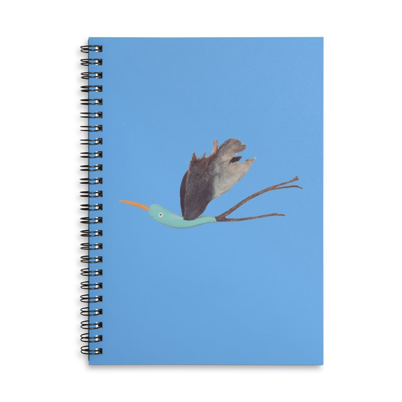 Bird 1 Accessories Lined Spiral Notebook by Dave Calver's Shop