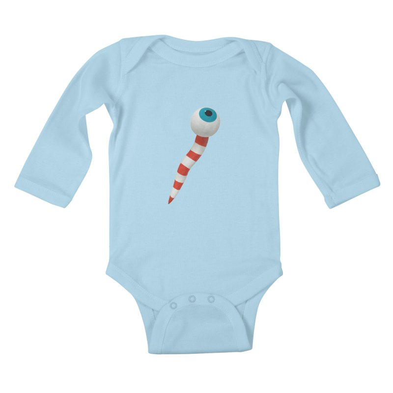 Worm 1 Kids Baby Longsleeve Bodysuit by Dave Calver's Shop