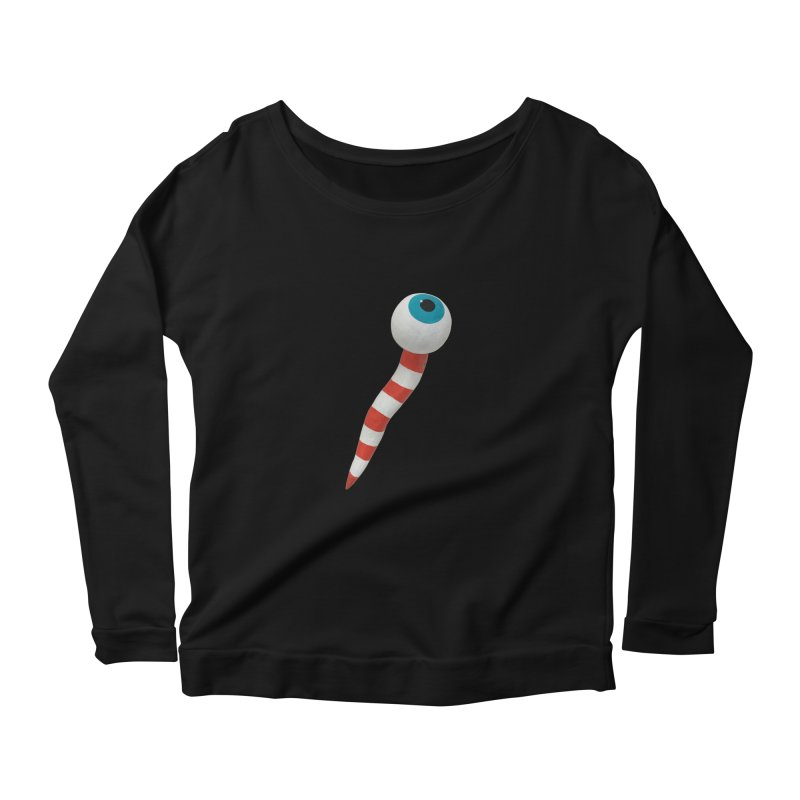 Worm 1 Women's Scoop Neck Longsleeve T-Shirt by Dave Calver's Shop