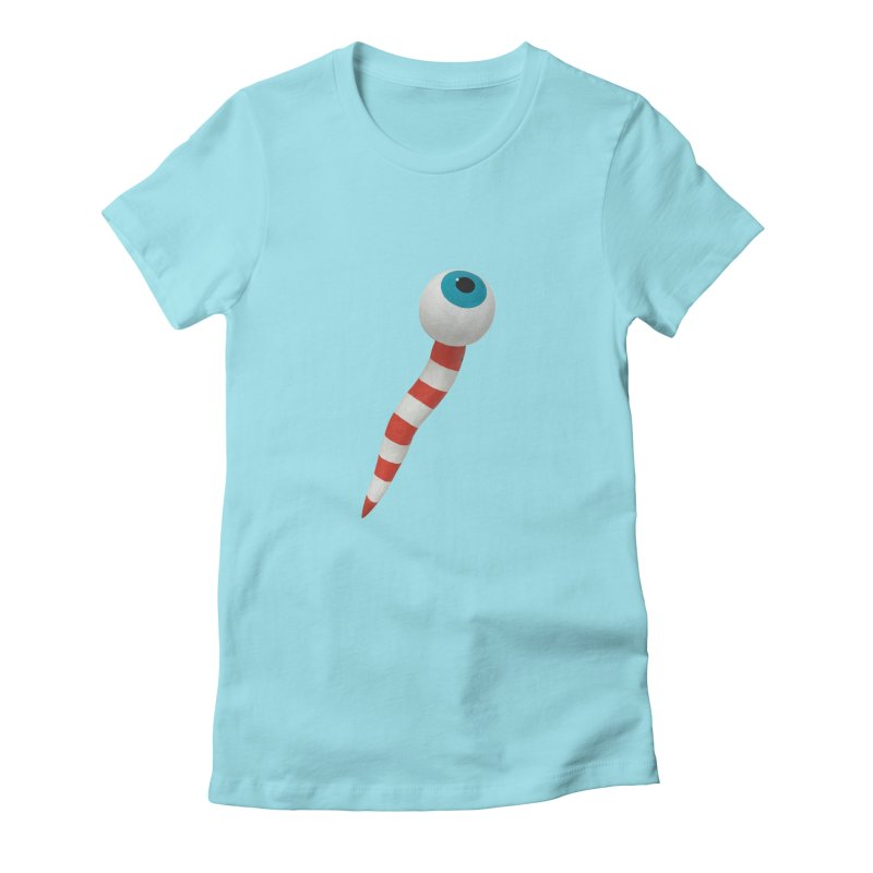 Worm 1 Women's Fitted T-Shirt by Dave Calver's Shop
