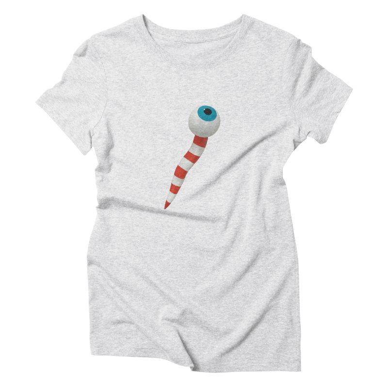 Worm 1 Women's Triblend T-Shirt by Dave Calver's Shop