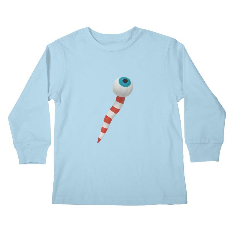 Worm 1 Kids Longsleeve T-Shirt by Dave Calver's Shop