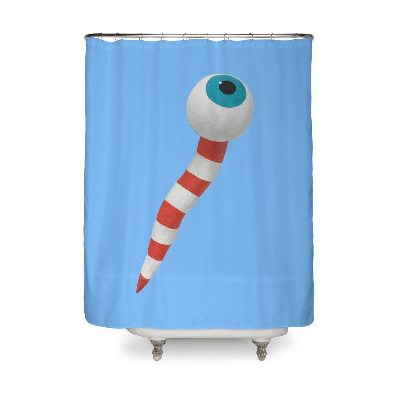 Worm 1 Home Shower Curtain by Dave Calver's Shop
