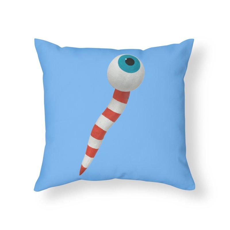 Worm 1 Home Throw Pillow by Dave Calver's Shop