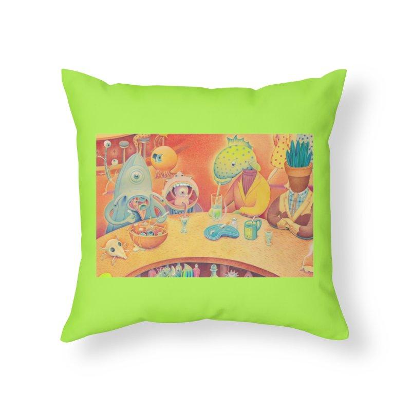 Barflies Home Throw Pillow by Dave Calver's Shop