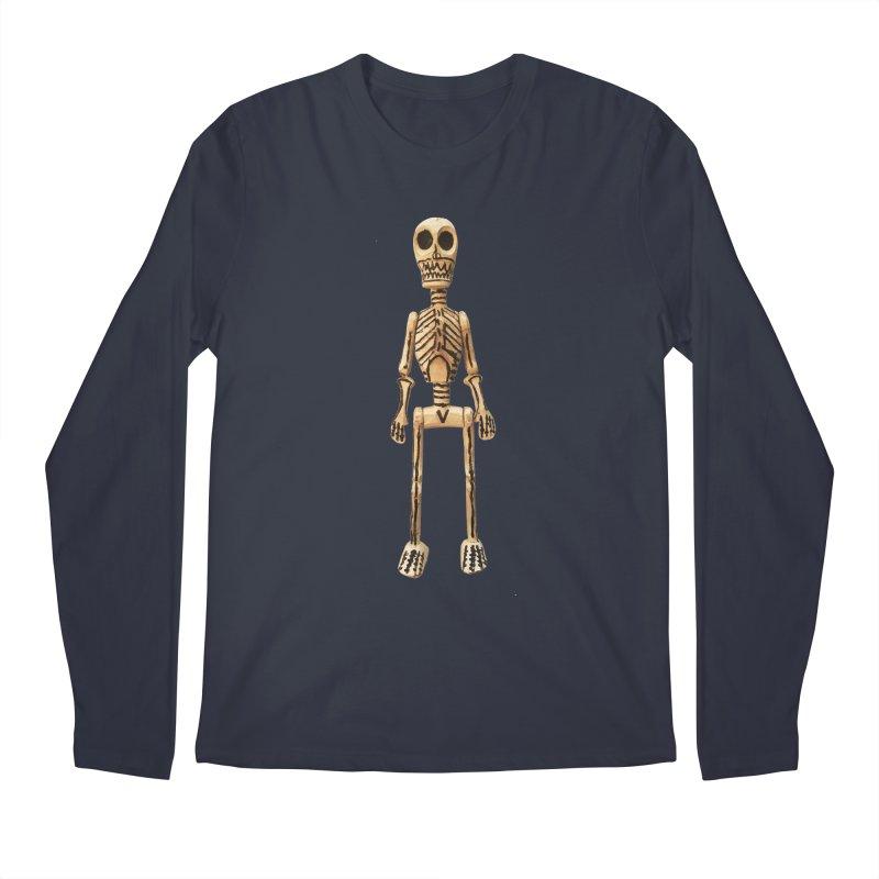 Skeleton Men's Regular Longsleeve T-Shirt by Dave Calver's Shop