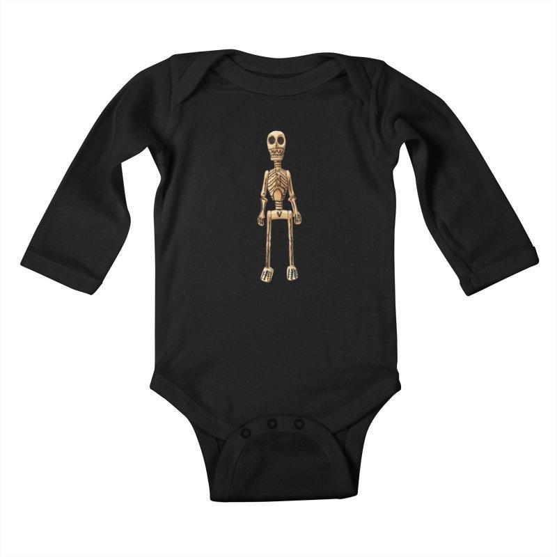 Skeleton Kids Baby Longsleeve Bodysuit by Dave Calver's Shop