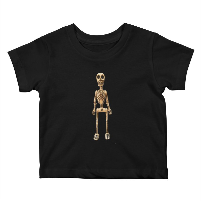 Skeleton Kids Baby T-Shirt by Dave Calver's Shop