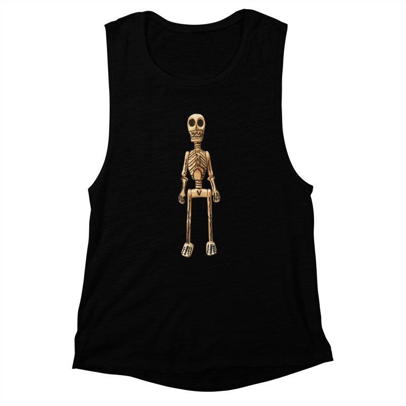Skeleton Women's Muscle Tank by Dave Calver's Shop