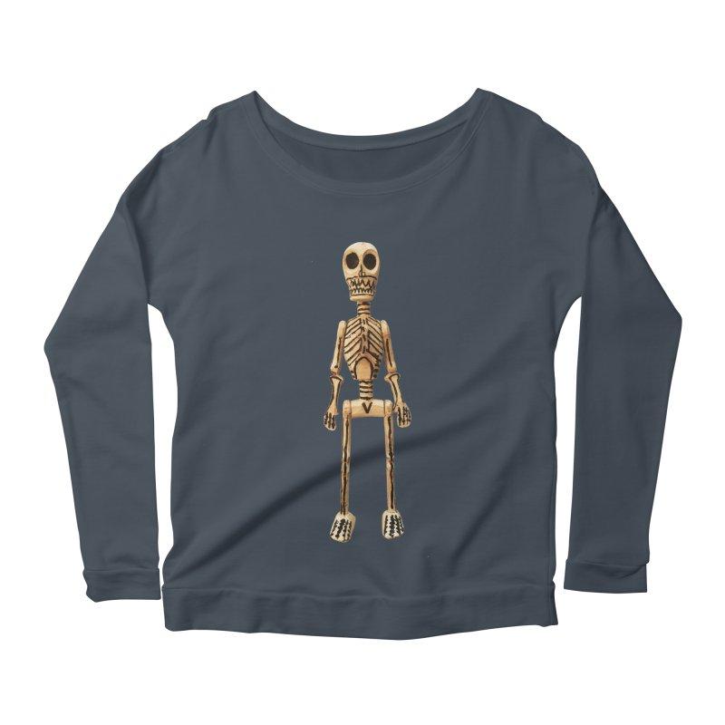 Skeleton Women's Scoop Neck Longsleeve T-Shirt by Dave Calver's Shop