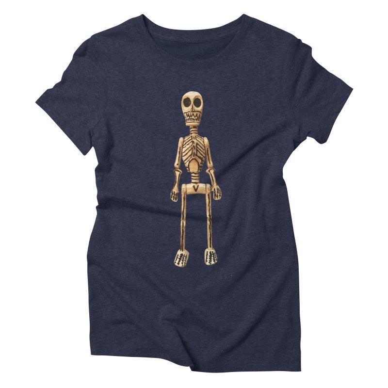 Skeleton Women's Triblend T-Shirt by Dave Calver's Shop