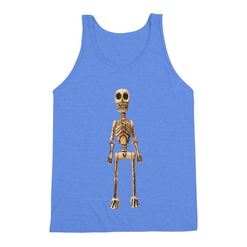 Skeleton Men's Triblend Tank by Dave Calver's Shop