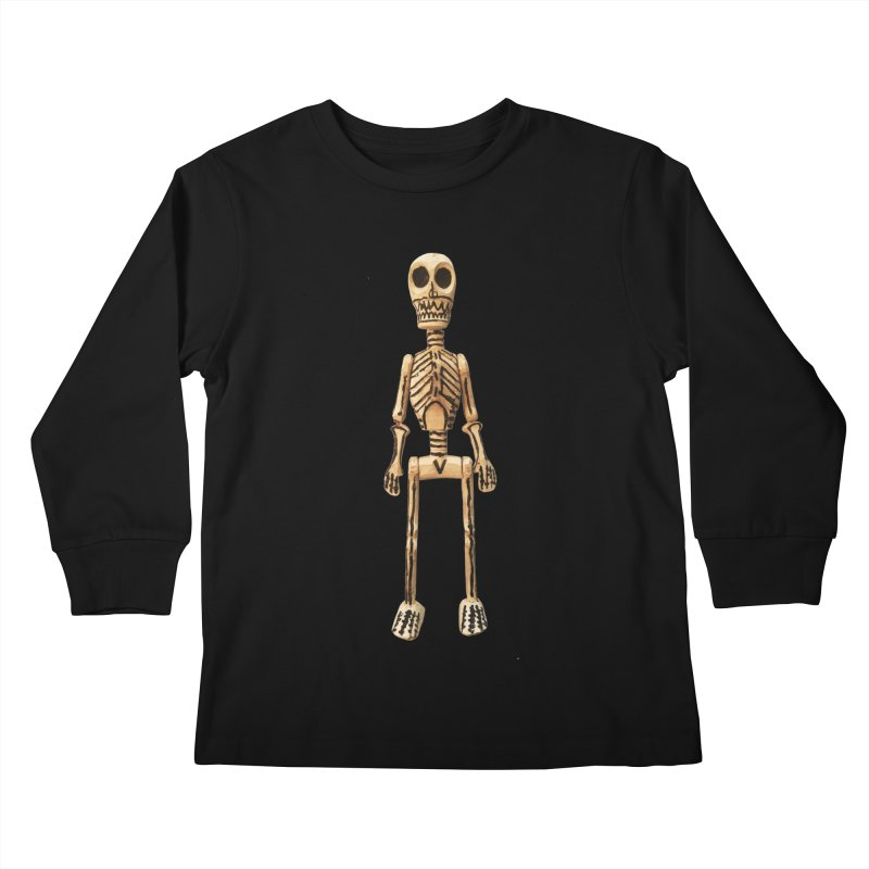 Skeleton Kids Longsleeve T-Shirt by Dave Calver's Shop