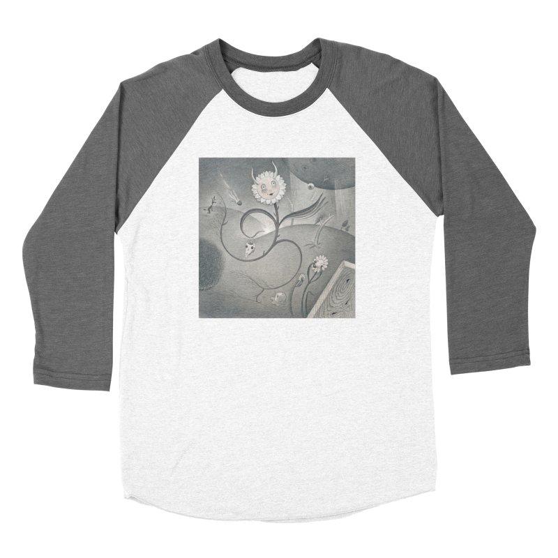 Devil Daisy in Men's Baseball Triblend Longsleeve T-Shirt Tri-Grey Sleeves by Dave Calver's Shop