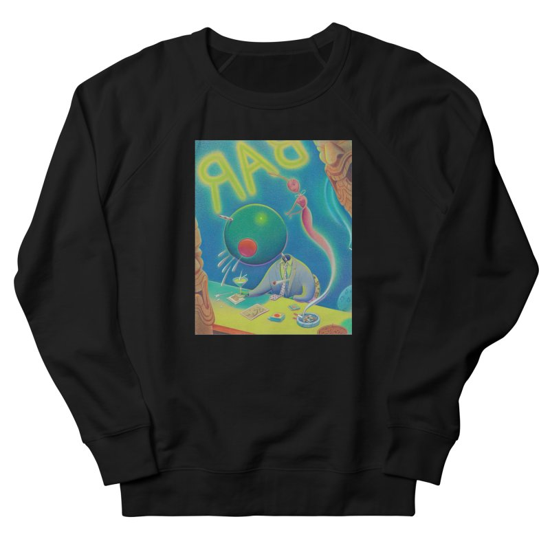 Last Call At The Garnish Bar in Men's French Terry Sweatshirt Black by Dave Calver's Shop