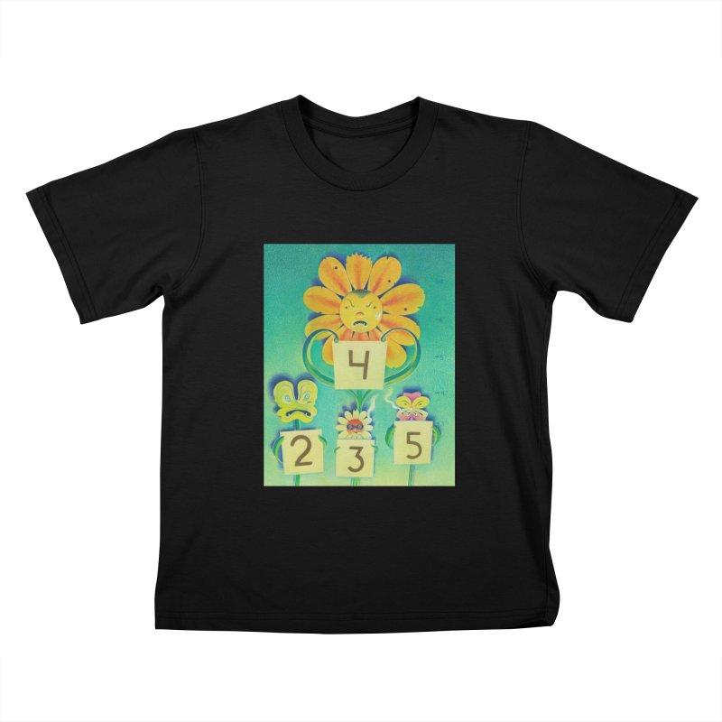 Posie Line-Up in Kids T-Shirt Black by Dave Calver's Shop