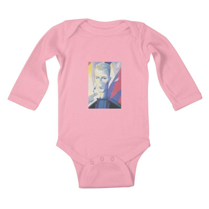 David Bowie Kids Baby Longsleeve Bodysuit by Dave Calver's Shop