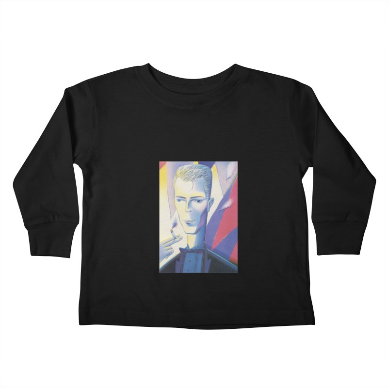 David Bowie Kids Toddler Longsleeve T-Shirt by Dave Calver's Shop