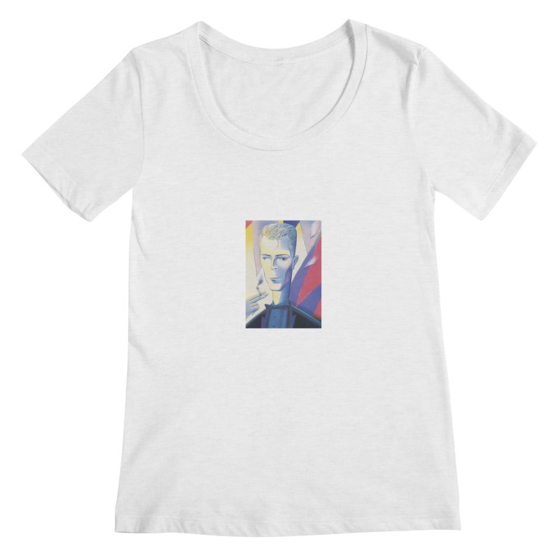 David Bowie Women's Regular Scoop Neck by Dave Calver's Shop
