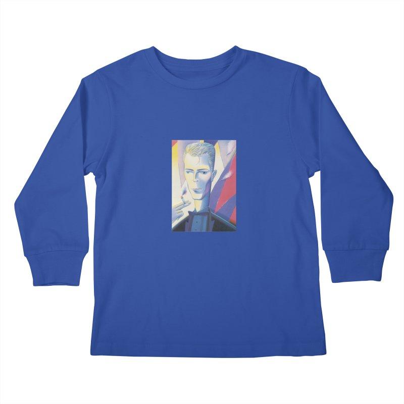 David Bowie Kids Longsleeve T-Shirt by Dave Calver's Shop