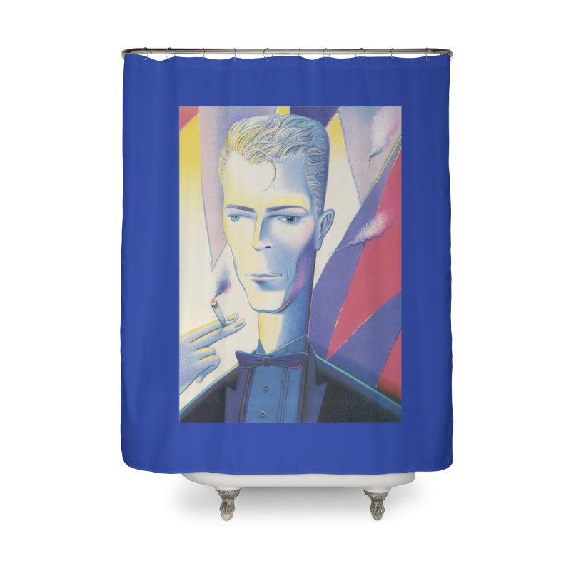 David Bowie Home Shower Curtain by Dave Calver's Shop