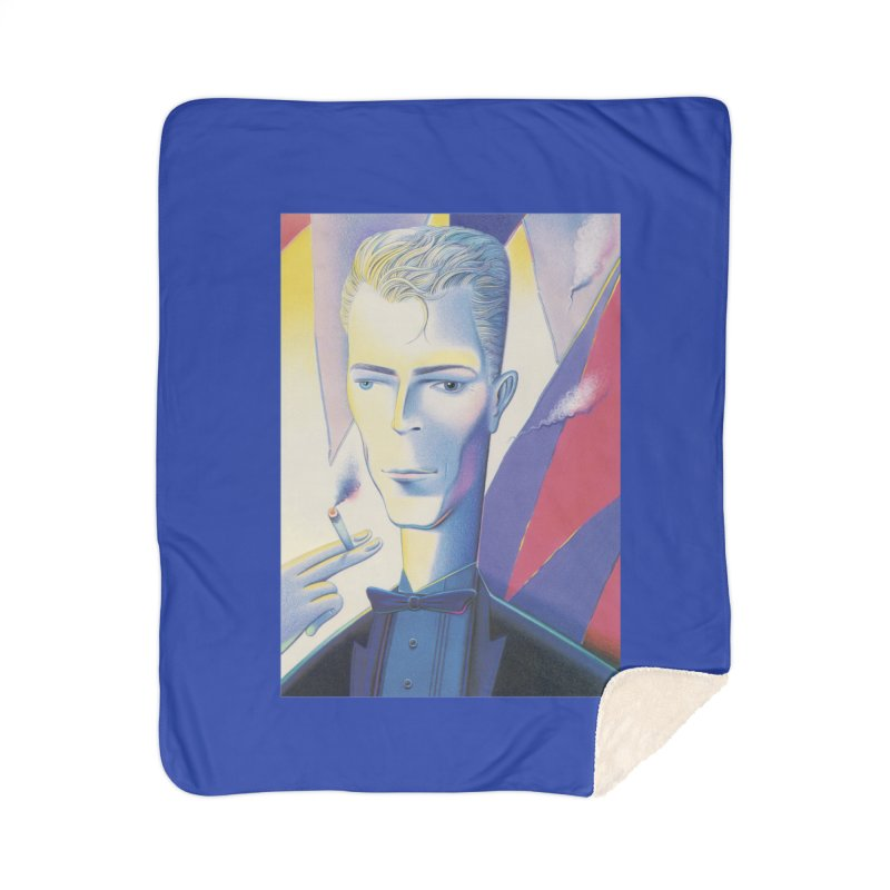 David Bowie Home Sherpa Blanket Blanket by Dave Calver's Shop